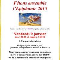 Venez nombreux pour fêter l'Epiphanie le 9 janvier!