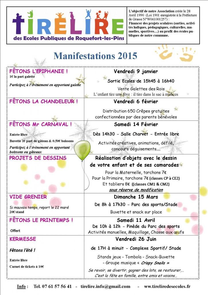 Programme tirelire 2015